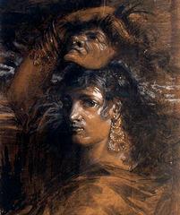 Masque, œuvre de Eva Gonzales