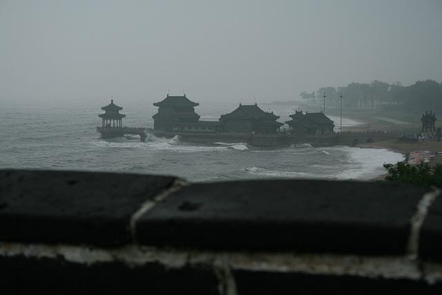 Koniec múru v Qinghuangdao