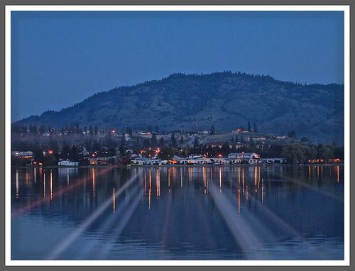 Night at Tuc-El-Nuit Lake, Oliver, BC