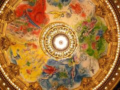 Plafond de l'Opéra Garnier, œuvre de Marc Chagall