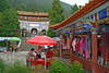 Tourist market in front of the Zhonghe Temple