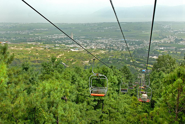 The cable car to the Zhonghe Temple