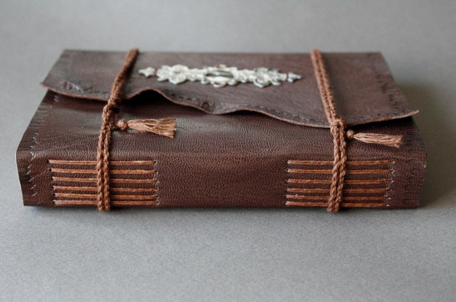 Leatherbound longstitch journal