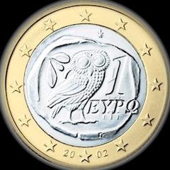 La pièce de un euro en Grèce