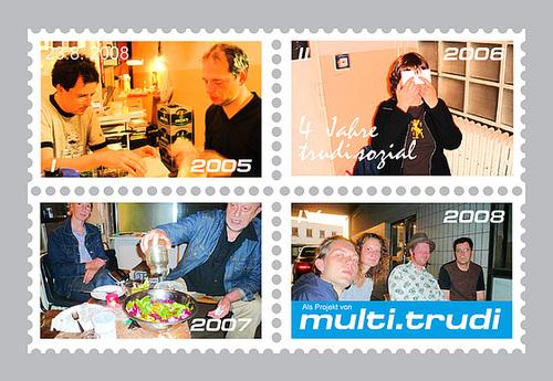 Postkarte 4 Jahre trudi.sozial Jubiläum
