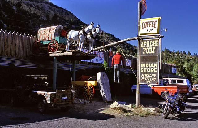 The very strange Apache Fort - Indian Store