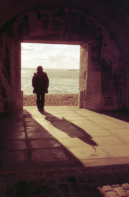Looking Out (redscale)