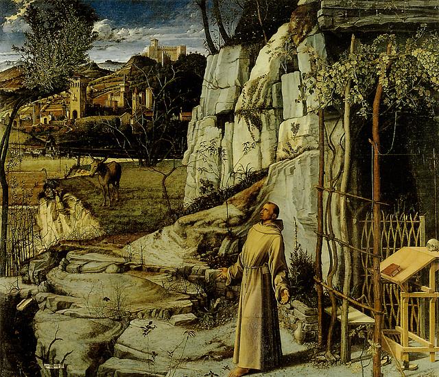 Saint François d'Assise, œuvre de Giovanni Bellini