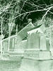 Cimetière et église  / Church and cemetery  -  Ormstown.  Québec, CANADA.  29 mars 2009- En négatif et colorisé en vert / Negative enhancement colorized in green.
