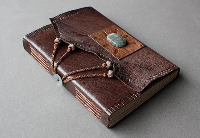 Labradorite cabochon journal