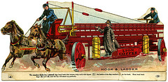 Lion Coffee Hook and Ladder Fire Engine