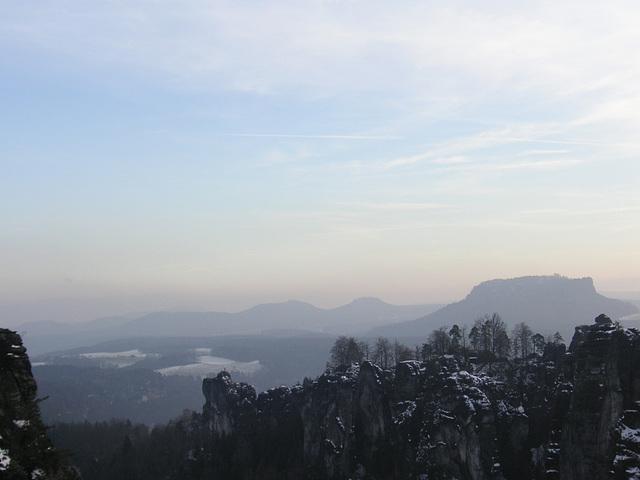 Blick von der Bastei auf den Lilienstein