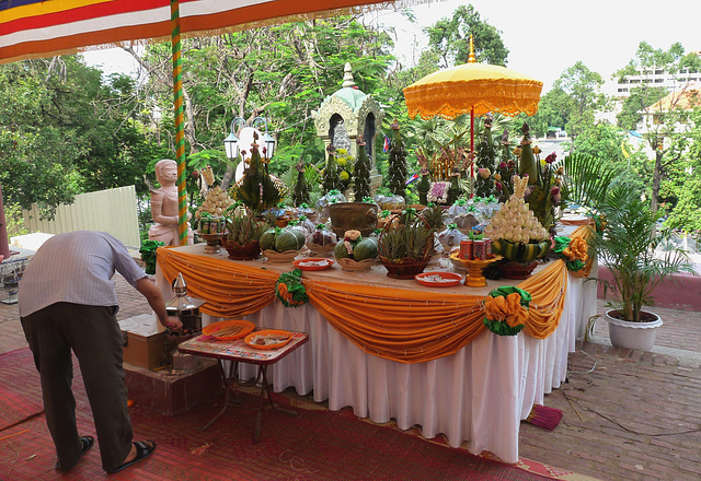 Khmer New Year Celebrations- Offerings