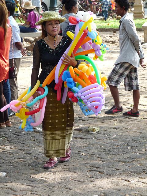 Khmer New Year Celebrations- Balloon Seller #2