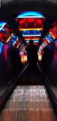 l'escalator de l'atomium...