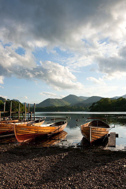 Evening boats on Derwentwater