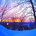 Lever de soleil monastique /  Monastic sunset  - Couleurs ravivées