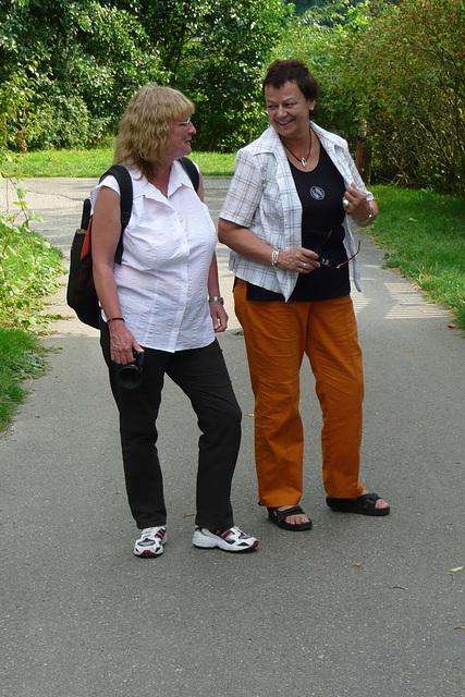 Spaziergang am Fasanenschlößchen - Moritzburg - August 2008