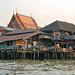 The Khlong Bangkok Noi estuary