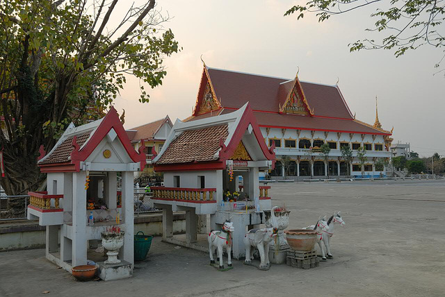 Spirit houses at Wat Chai Chimphli in Thonburi