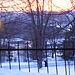 Lever de soleil à l'abbaye de St-Benoit-du-lac  /   Février 2009