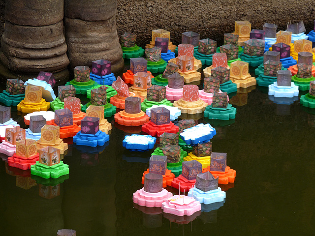Abandoned Floating Lanterns from Khmer New Year Celebrations