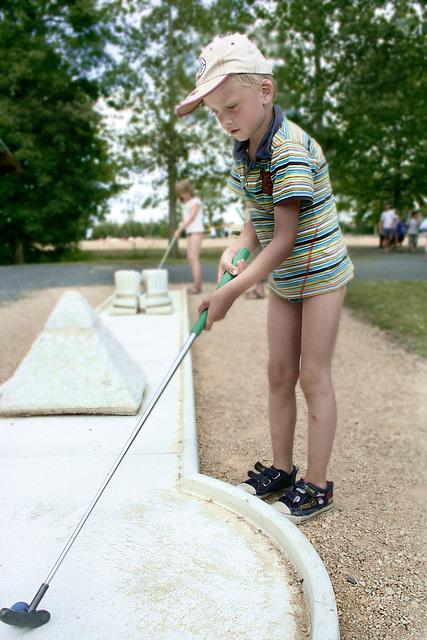 Futur golfeur !
