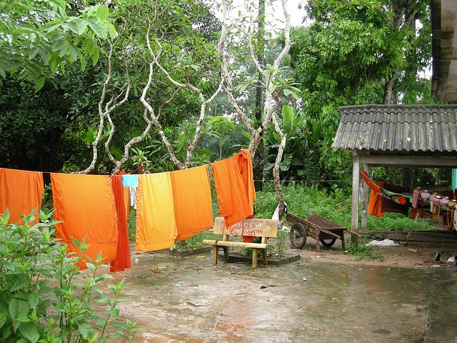Waschtag bei den Mönchen