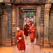 Banteay Srei Gateway- Young Buddhist Monks Emerging