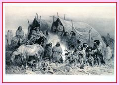 Ethnie Tehuelches, Patagonie