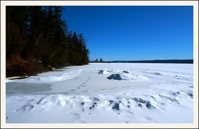 Winter at Lac La Hache, BC