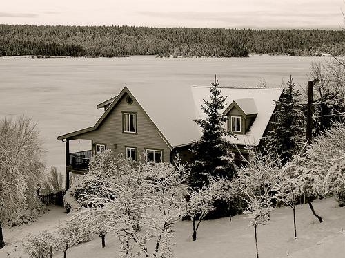 Winter at Lac La Hache, BC