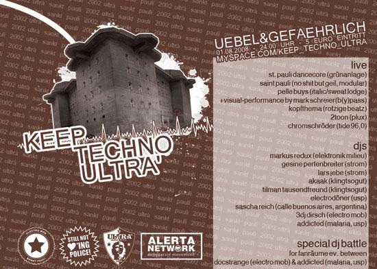 Freitagabend: Keep Techno Ultrà!