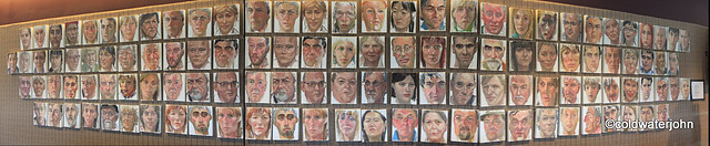 117 Portrait Paintings at Eden Court Theatre, Inverness