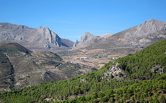 The Zafarraya Pass in the Sierra Tejeda