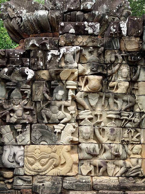 Angkor Thom- Restoration Amongst the Carvings