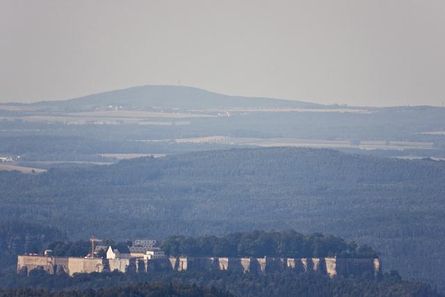 Festung Königstein - vom Schneeberg aus gesehen