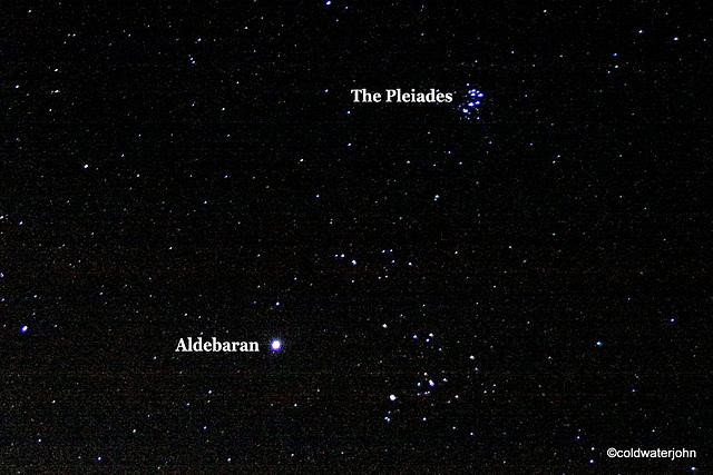 Aldebaran and the Pleiades