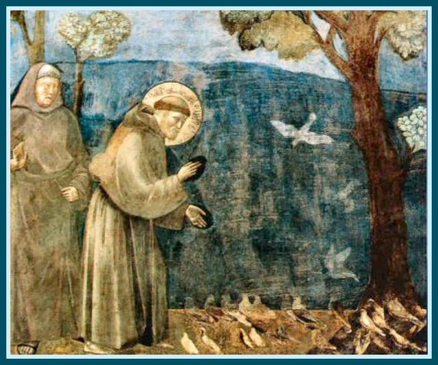 Saint François d'Assise prêchant aux oiseaux, Giotto