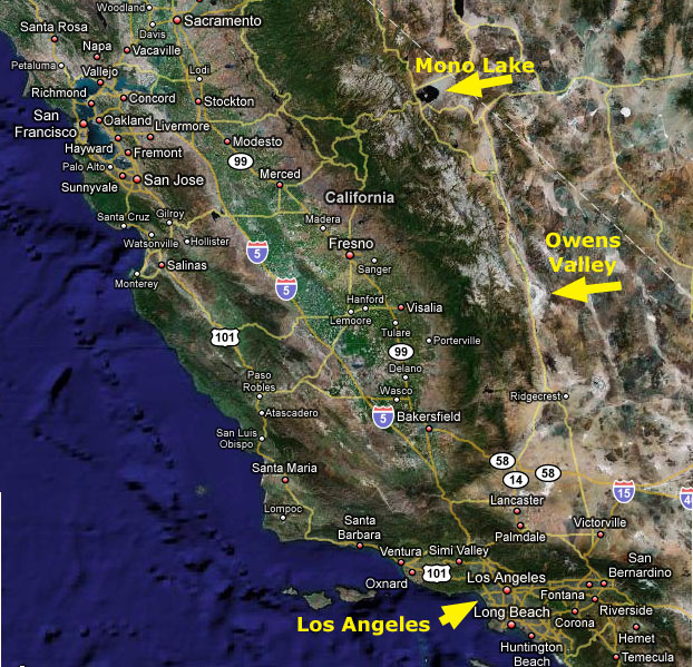 Mono Lake to Los Angeles