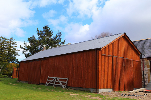 At last - the barn roof repainted!
