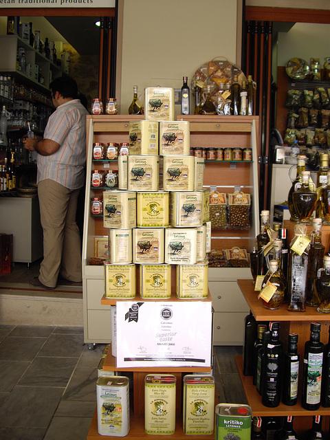 Crète boutique d'huiles