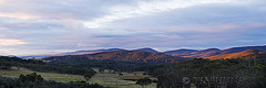 Sunset panorama at Snowball, Australia