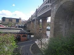 Newcastle : pont de chemin de fer.
