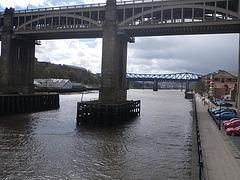 Newcastle : enfilade de ponts...
