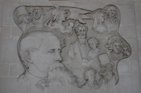 Dickens sculptured panel