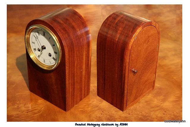 Banded Mahogany clockcase to rehouse pendulum clock