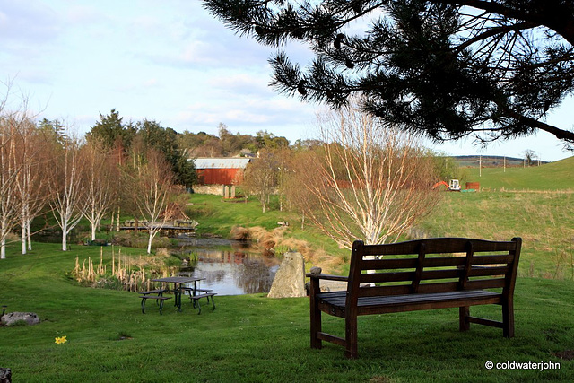 Bench with a view - late sunny afternoon