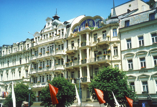 Hotelzeile in Karlsbad