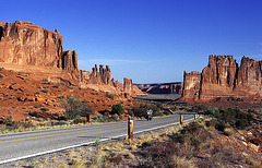 Entering the Arches National Park